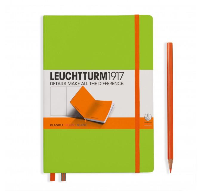 Libreta Bicolore Medium, tapa dura, liso, Verde lima-Naranja.