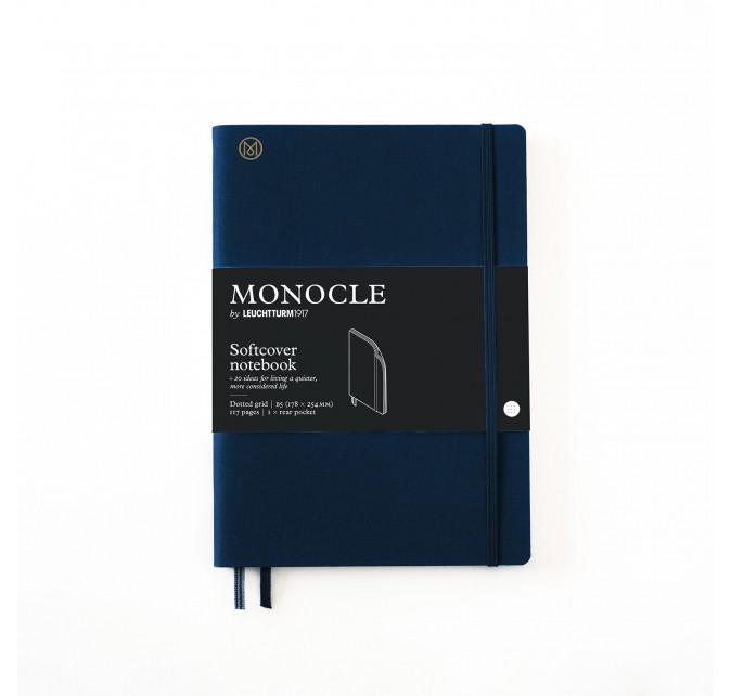 Libreta B5 Monocle Tapa Blanda Azul Marino