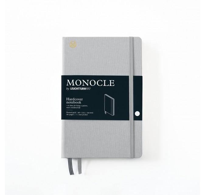 Libreta B6+ Monocle Tapa Dura Gris