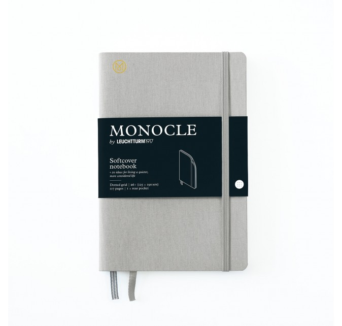 Libreta B6+ Monocle Tapa Blanda Gris
