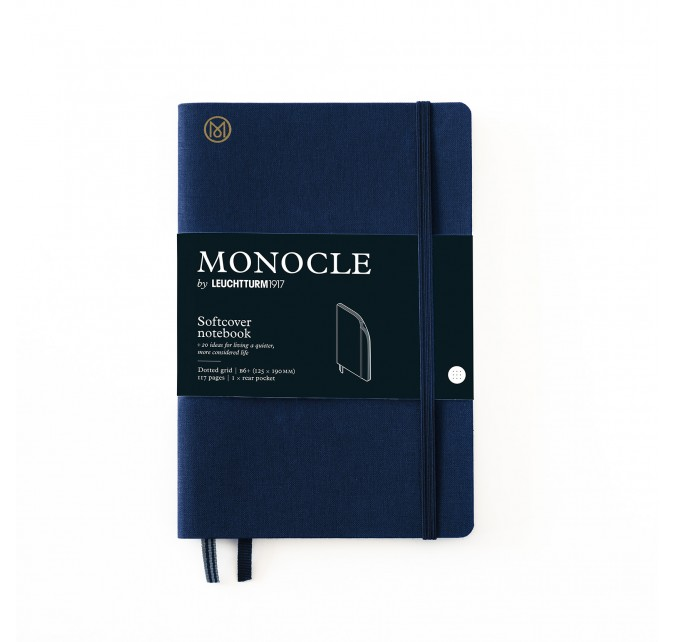 Libreta B6+ Monocle Tapa Blanda Azul Marino