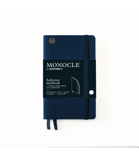 Libreta A6 Monocle Tapa Blanda Azul Marino