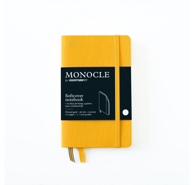 Libreta A6 Monocle Tapa Blanda Limón