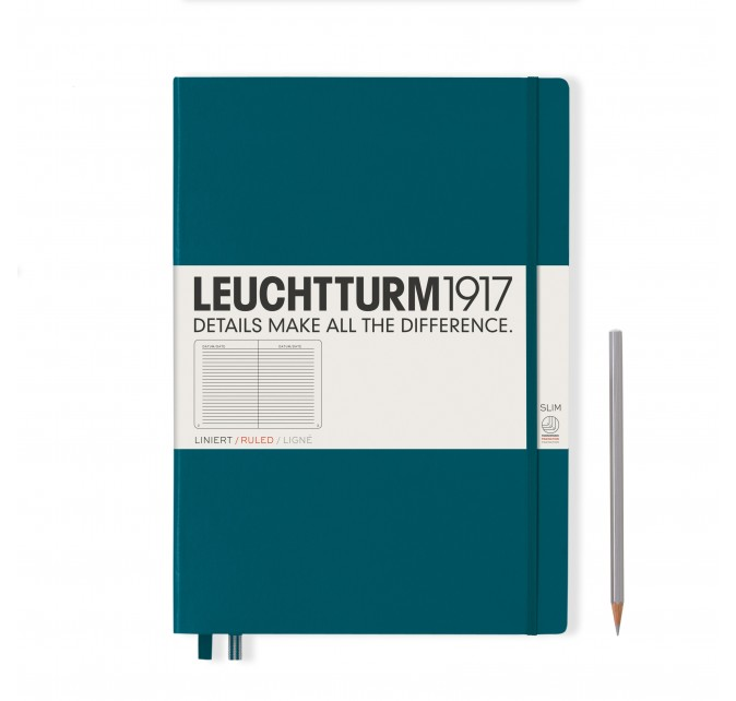 Libreta Master Slim Pacific Green
